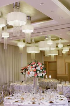 Indian wedding floral centerpiece.