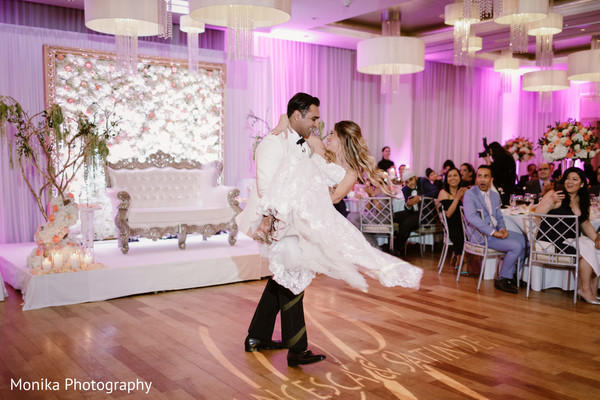 first dance,indian wedding,reception party