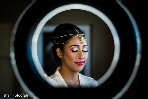 Indian bride's makeup details