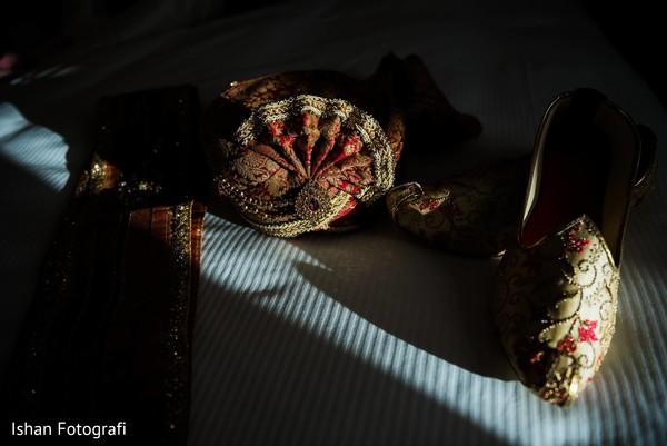 Detail of the Indian wedding wardrobe