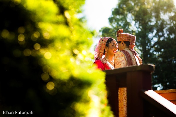 Radiant Indian couple during the photo sessions