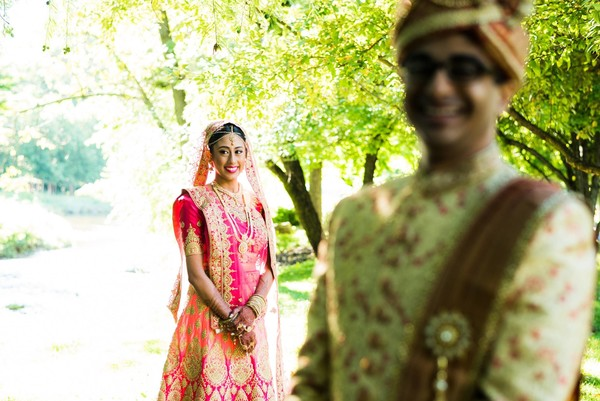indian couple,photo shoot,outdoors,sari