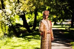 Elegant Indian groom wearing the sherwani