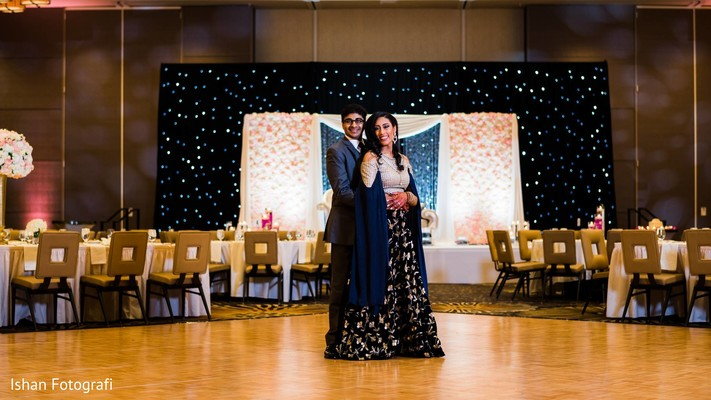 Lovely capture of the Indian newlyweds at the venue