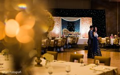 Detail of the beautiful decoration of the Indian wedding reception venue