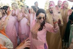 Indian groom's joyful baraat procession.