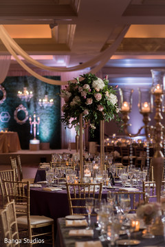 Indian wedding floral centerpiece decoration.