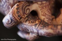 Close up of the beautiful mehndi design on the maharani's hands