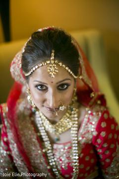 Stunning maharani wearing the bridal Nath and the Tikka