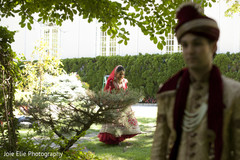 Elegant Indian couple arrive for the photo shoot