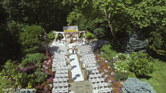 Stunning overview of the Indian wedding ceremony outdoors venue