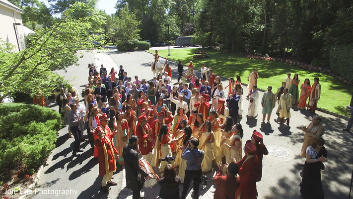 Guests get together to receive the Baraat