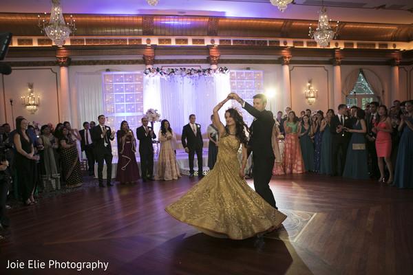 newlyweds,indian bride,reception,decoration