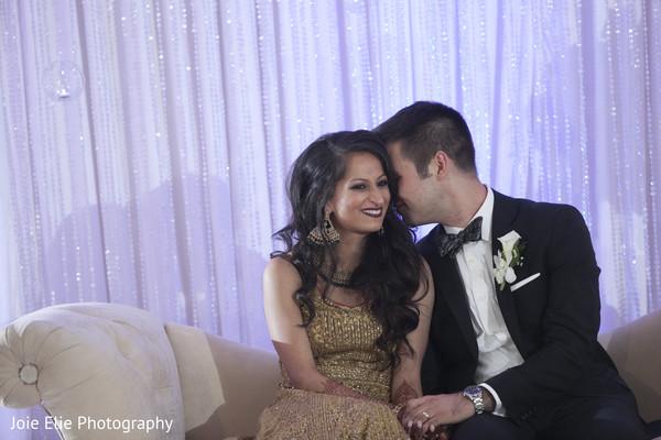 indian newlyweds,reception,maharani,groom