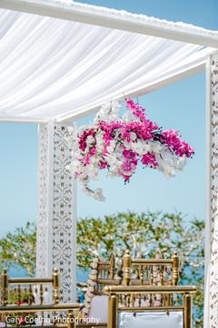 Magnificent Indian wedding ceremony mandap decoration.