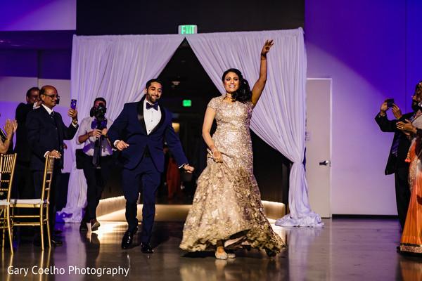 indian bride and groom,indian wedding reception fashion