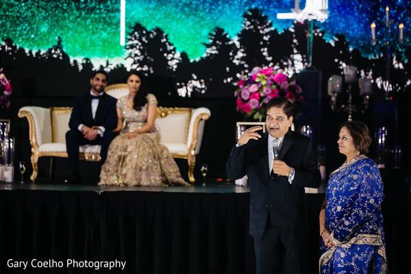 indian bride and groom,indian wedding reception fashion,indian wedding speech