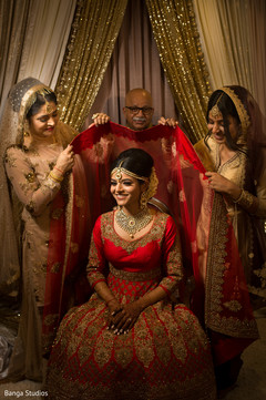 Marvelous Maharani getting ready for her wedding ceremony capture.