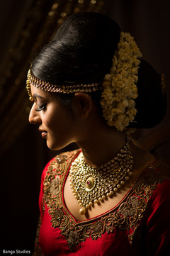 Enchanting maharani on her wedding ceremony outfit.