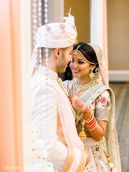 Indian lovebirds having lovely moments before the ceremonies