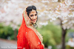 Marvelous indian bride outdoor  photo shoot.