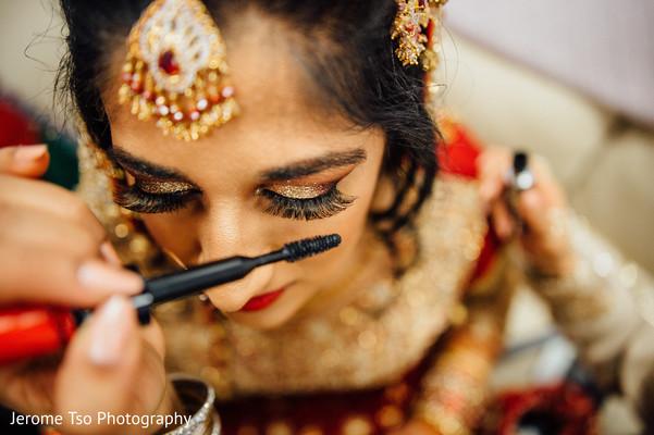 Flawless indian bride makeup .