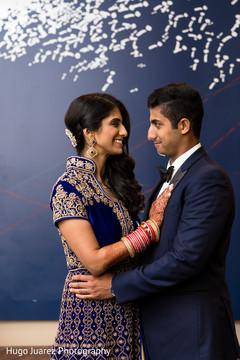 Elegant indian newlyweds photo