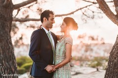 Amazing Indian bride and groom capture on their wedding reception outfits.