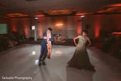 Dazzling dance performance by bride and groom during reception.