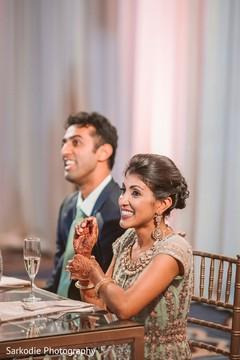 Maharani and Raja wedding reception photo.