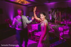 Upbeat Indian bride and father performance capture.
