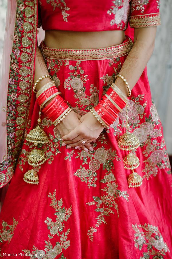 bridal lengha,floral lengha