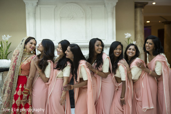 maharani,indian bride,bridesmaids,wedding
