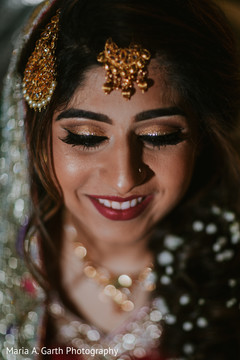 Flawless indian bride makeup.