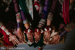 Incredible Indian bridal and bridesmaids mehndi art.