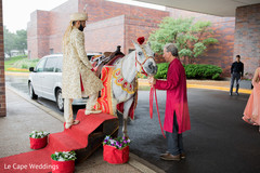 Indian groom ready to start baraat procession