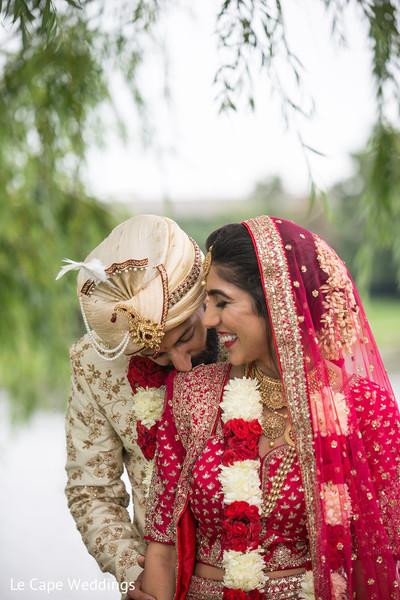 Indian couple having fun during photo shoot