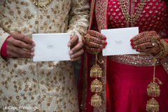 Indian couple holding their love notes
