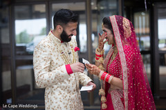 Indian bride's emotional moment reading groom's card