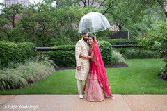 Indian couple meeting for their first look