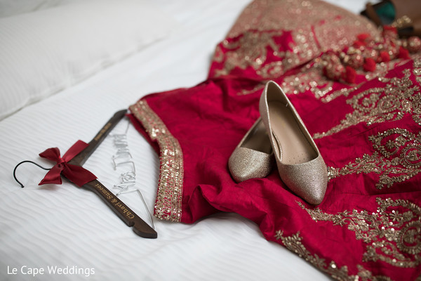 Indian bride lengha skirt and shoes