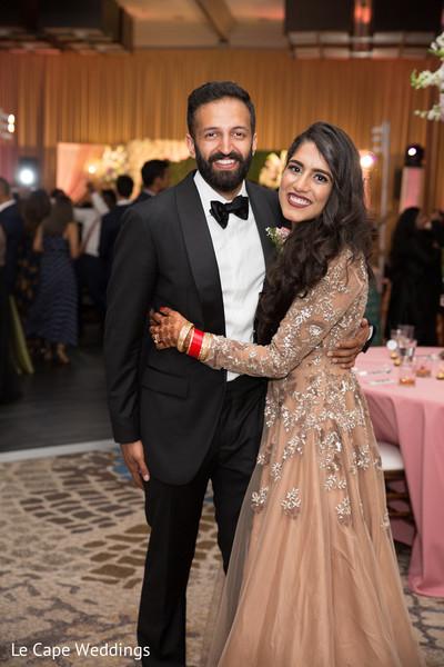 Beautiful capture of the elegant Indian newlyweds