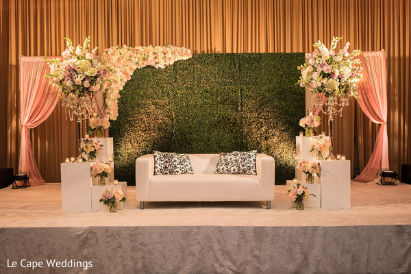 Beautiful Indian wedding stage waiting for the newlyweds