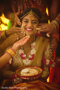 Beautiful maharani getting ready for the ceremony
