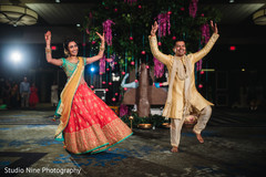 Special Indian guests performing a choreography at the venue