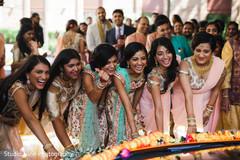 Beautiful shot of joyful Indian bridesmaids