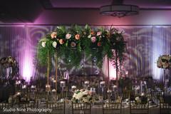 Floral decorations and lightning details