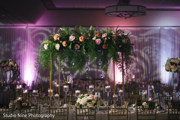 indian wedding,lightning,floral,venue