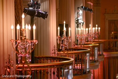 Stunning chandeliers decoration.