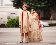 Indian bride and Raja together for the photo shoot